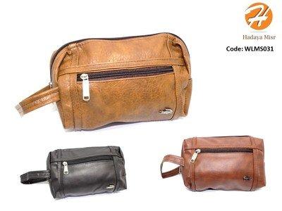 Leather hand bag شنطة يد جلد