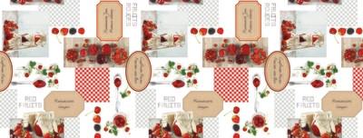 Cкатерть клеенка ПВХ Фрукты-ягоды
