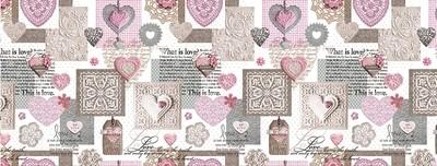 Cкатерть клеенка ПВХ  Это Любовь розовая