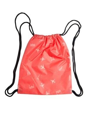Рюкзак-мешок Самелетики красная