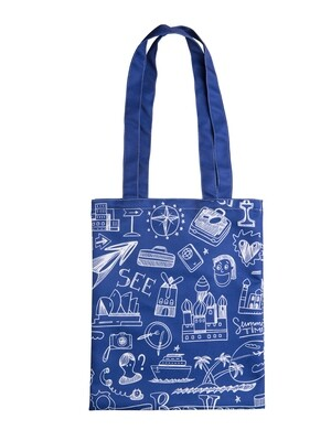 Сумка шоппер Travel синяя