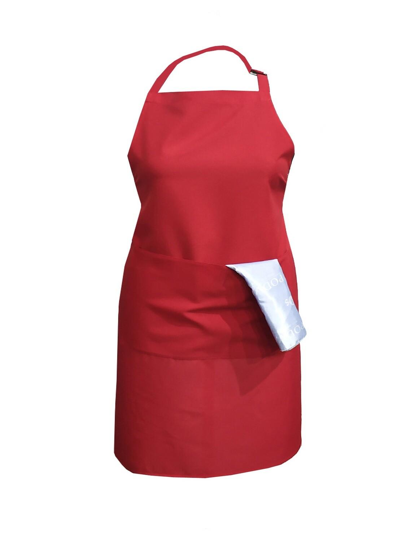 Фартук текстиль однотонный красный