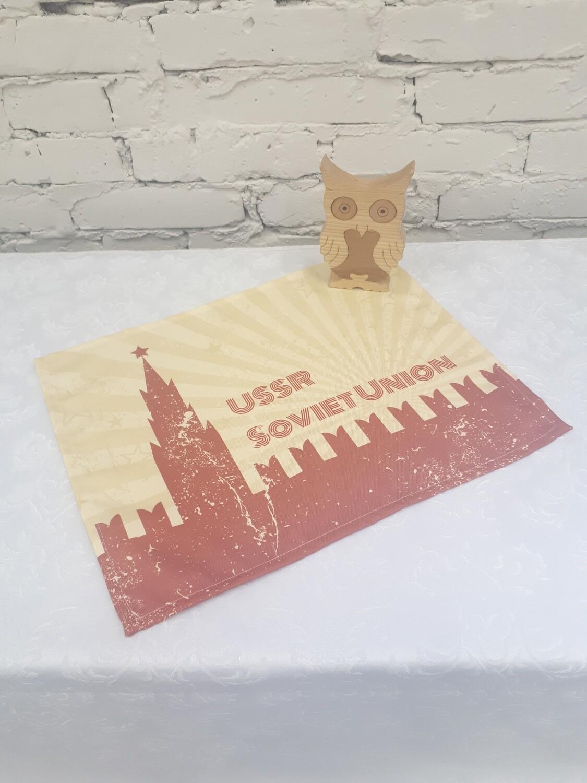 Салфетка текстиль СССР желтая