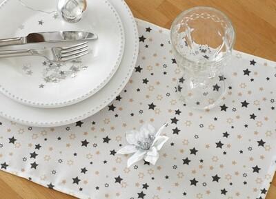 Новогодняя салфетка текстиль 30х40