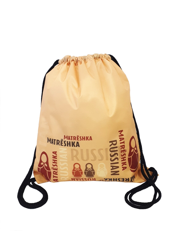 Рюкзак-мешок Матрешки золото