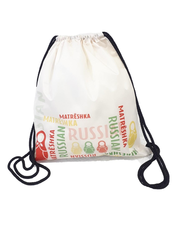 Рюкзак-мешок Матрешки оранж