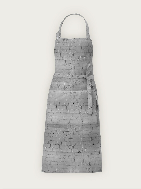 Фартук текстиль кирпич серый