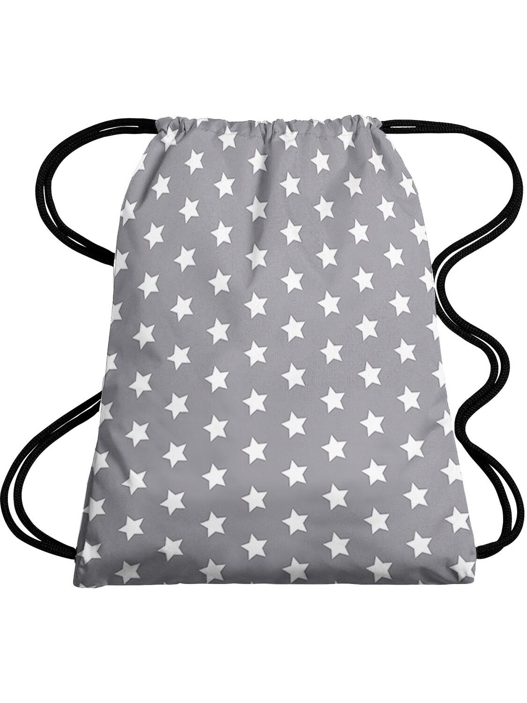 Рюкзак-мешок Звезды серый