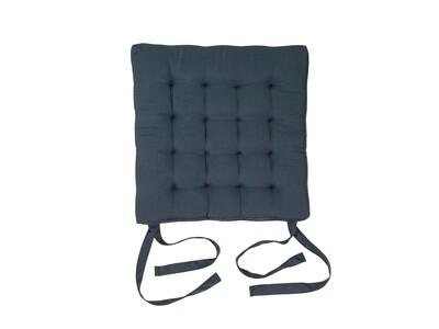 Подушка на стул стеганная серая 42х42х4см