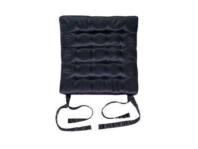 Подушка на стул стеганная черная 42х42х4см