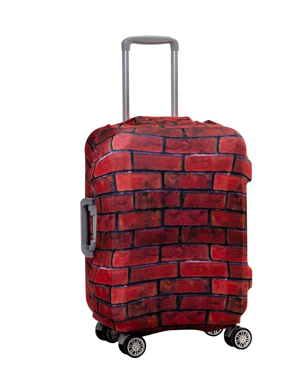 Чехол на чемодан Кирпич красный