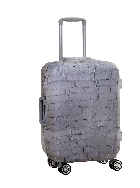 Чехол на чемодан Кирпич серый