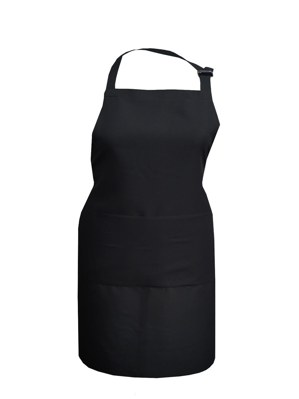 Фартук текстиль однотонный черный