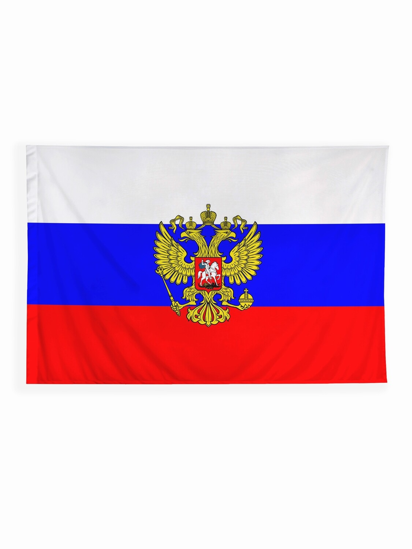 Флаг России с гербом 135х90