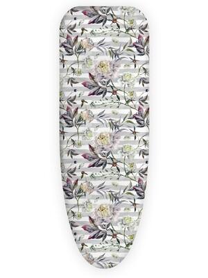 Чехол для гладильной доски Цветы на сером