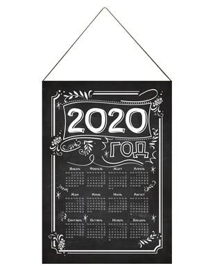 Настенный календарь текстильный мел