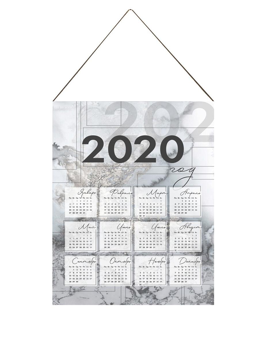 Настенный календарь текстильный мрамор