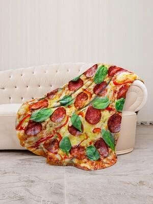 Плед флис Пицца