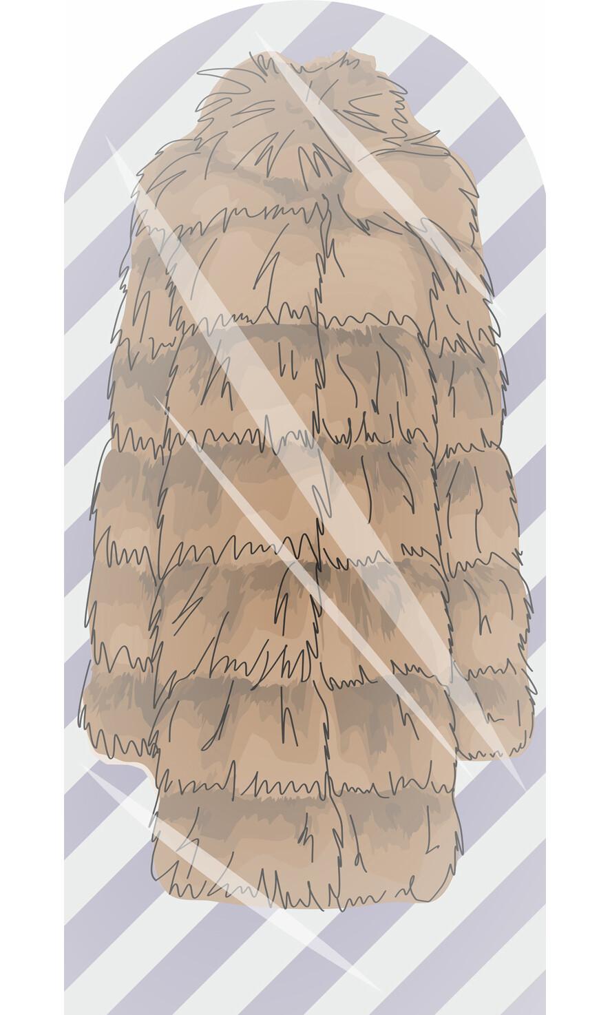 Чехол для одежды Шуба