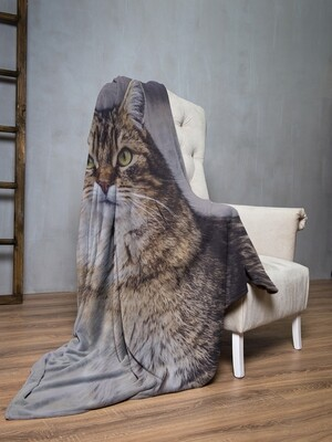 Плед флис Кошка