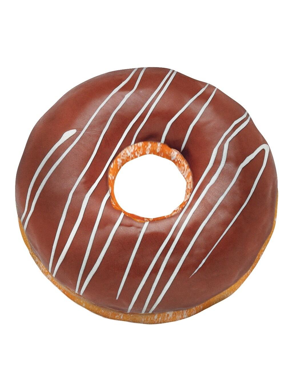 Декоративная подушка Пончик Молочный шоколад
