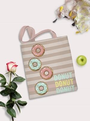 Сумка шоппер Пончики беж