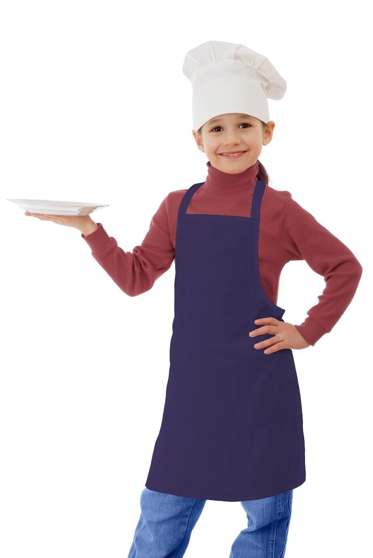 Фартук текстиль детский однотонный сирень для девочки