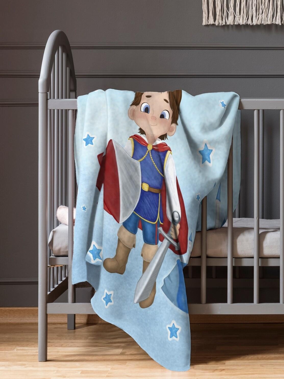 Плед детский флис Принц