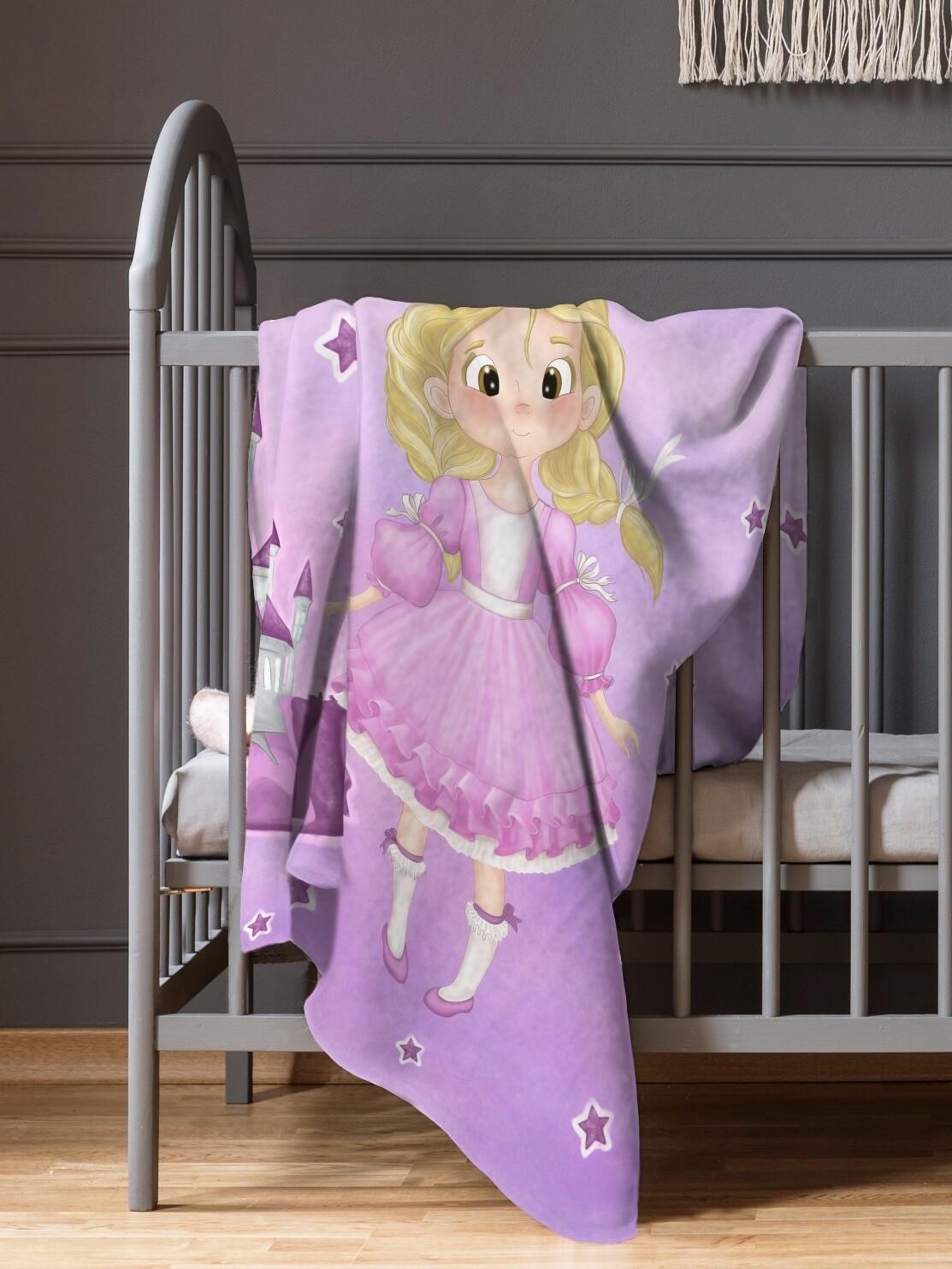 Плед детский флис Принцесса