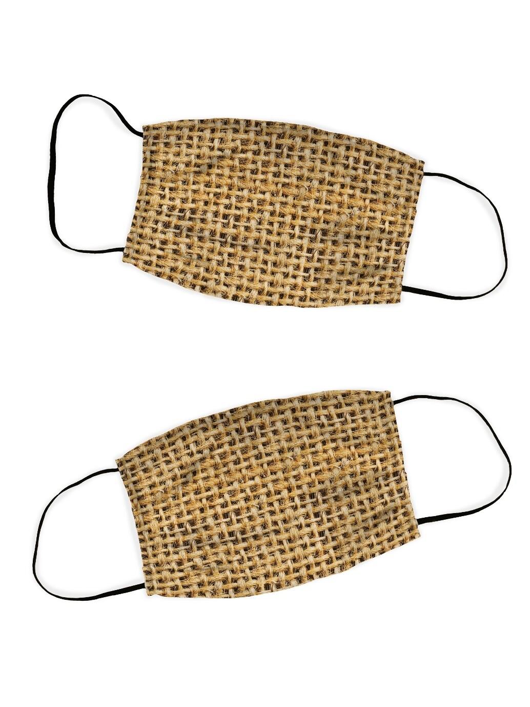 Защитная маска набор 2 шт. Мешковина