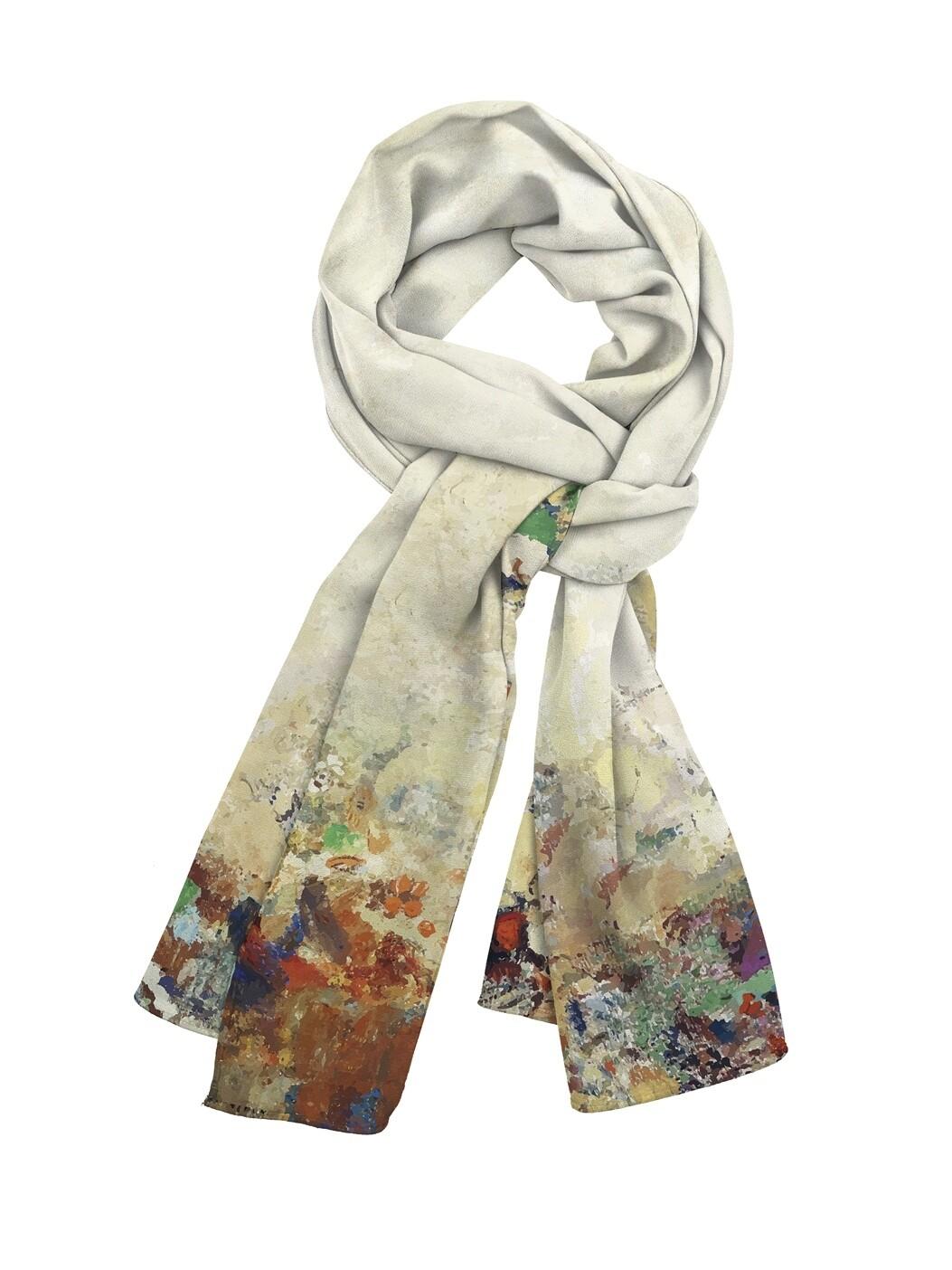 Платок шейный Кремовые цветы