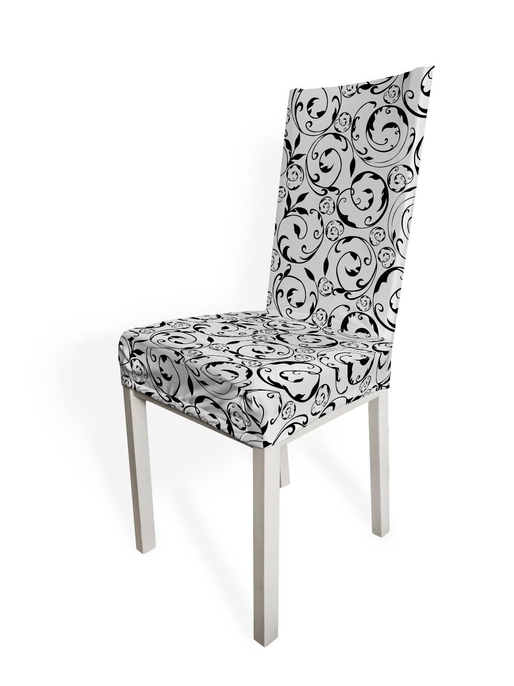 Чехол на стул Черно-белый узор