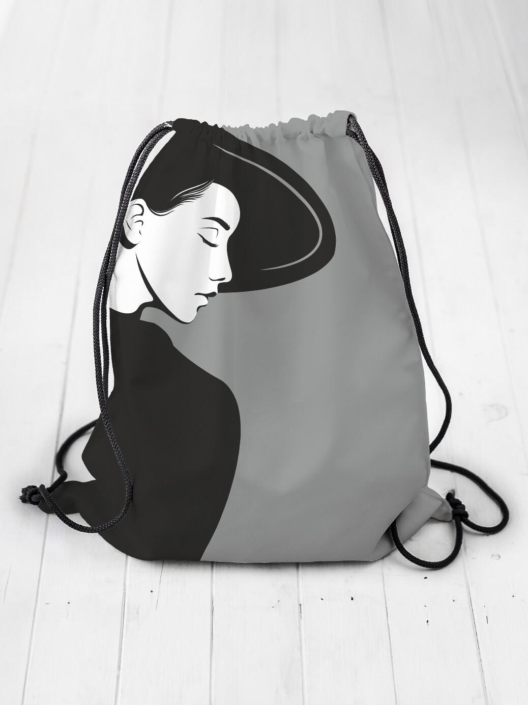 Рюкзак-мешок Девушка чб