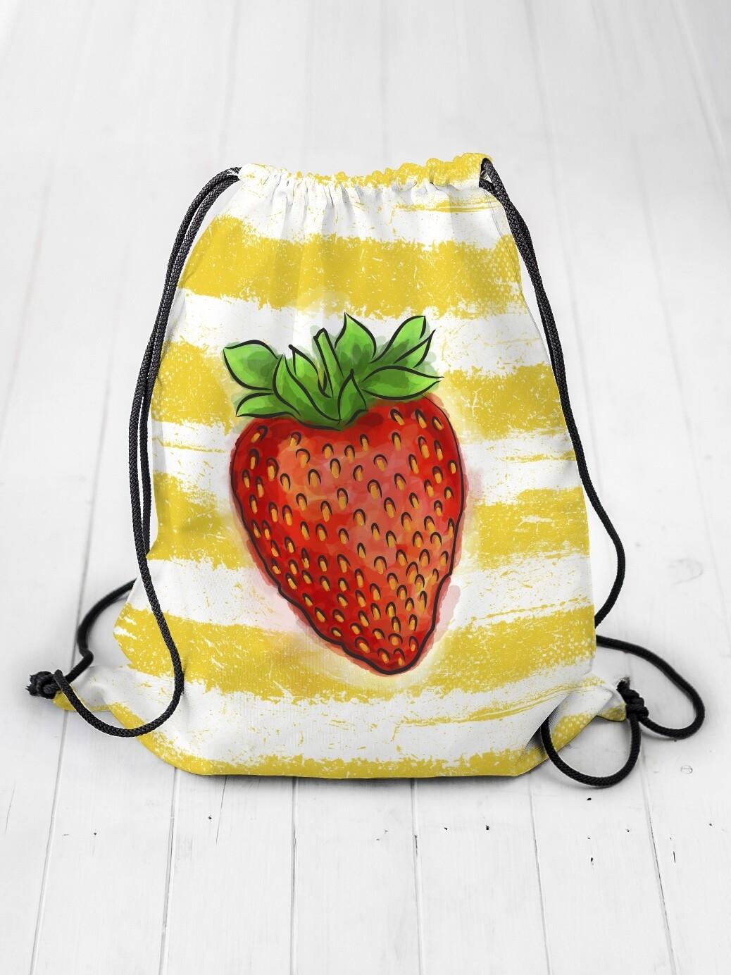 Рюкзак-мешок Клубника