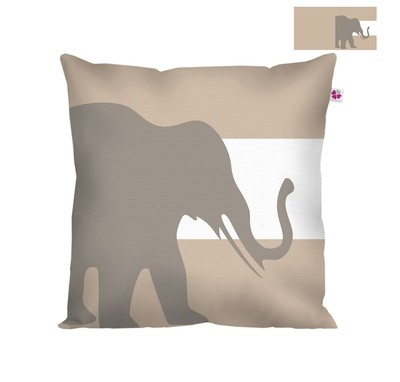Декоративная подушка слон бежевый