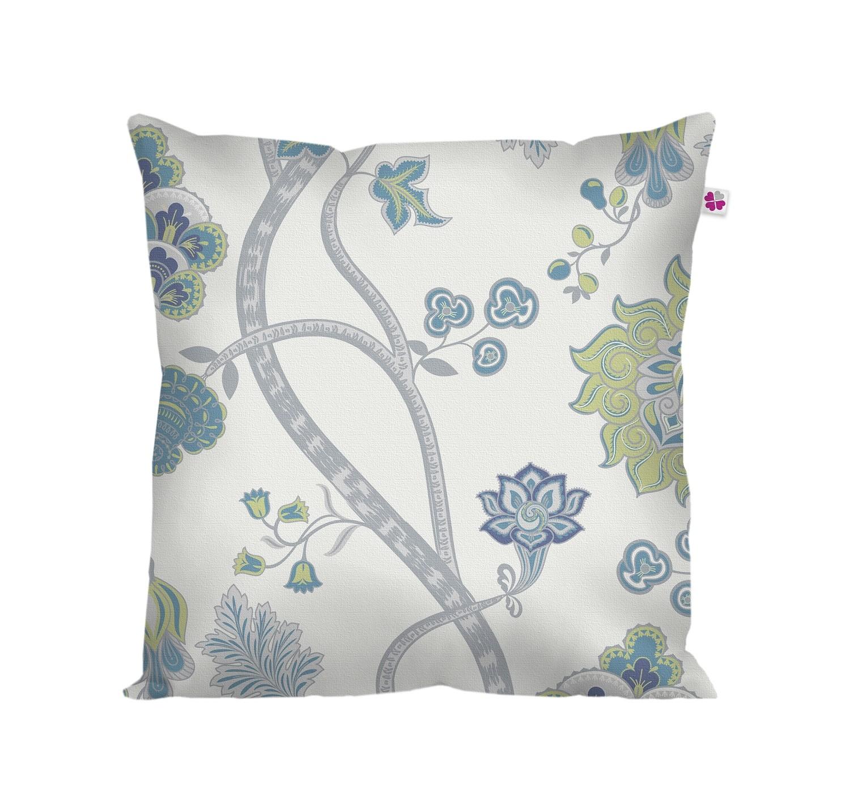 Декоративная подушка восточный узор синий