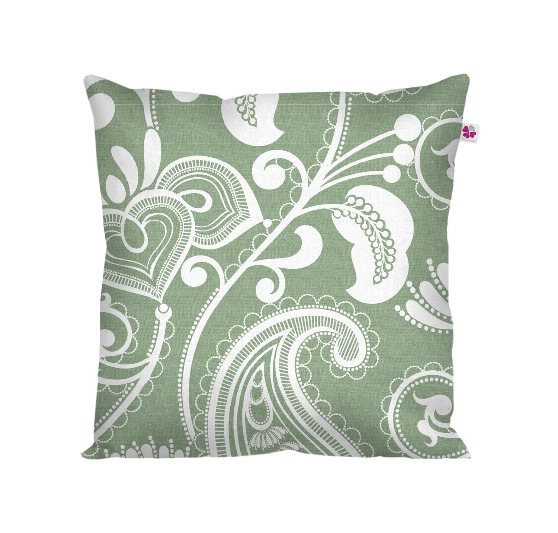 Декоративная подушка восточный стиль зеленая