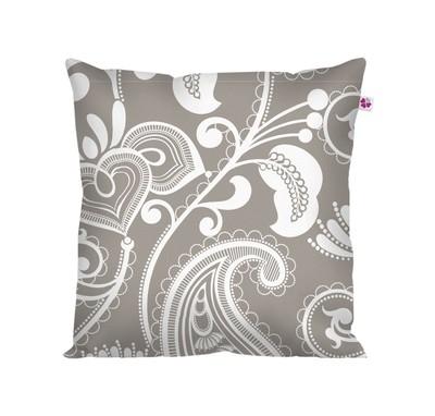Декоративная подушка восточный стиль серая