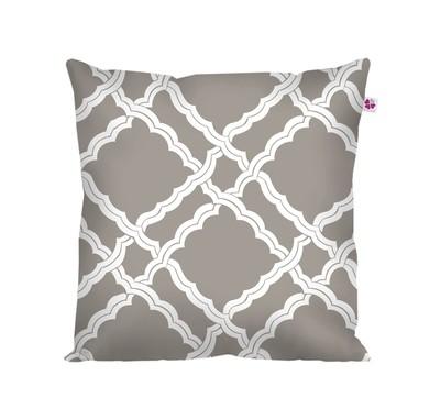 Декоративная подушка лофт серая