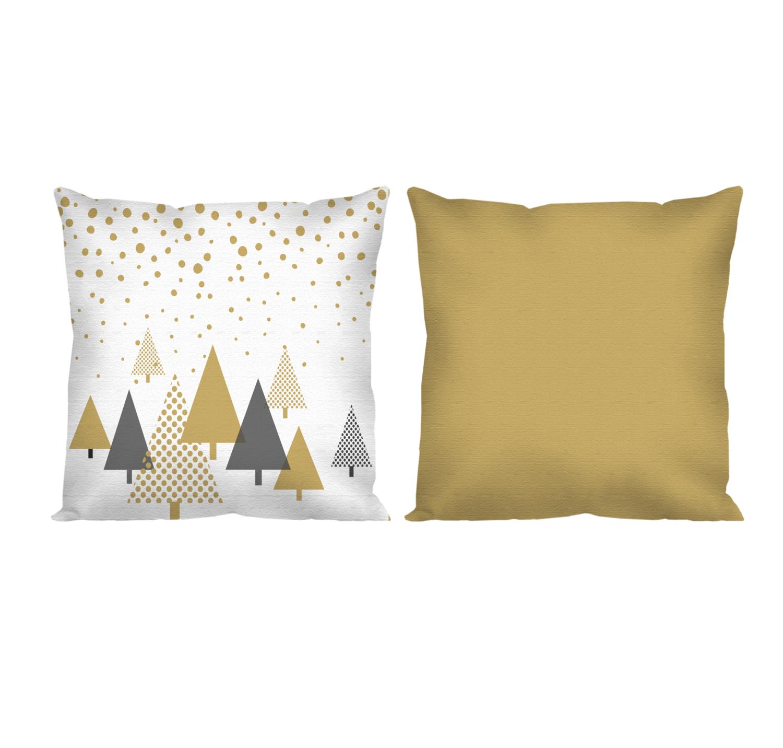 Декоративная подушка новогоднее золото