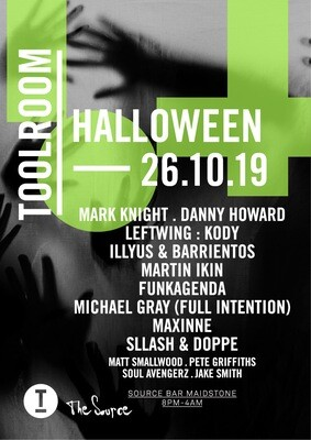 Saturday 26th October - Toolroom Halloween Street Party