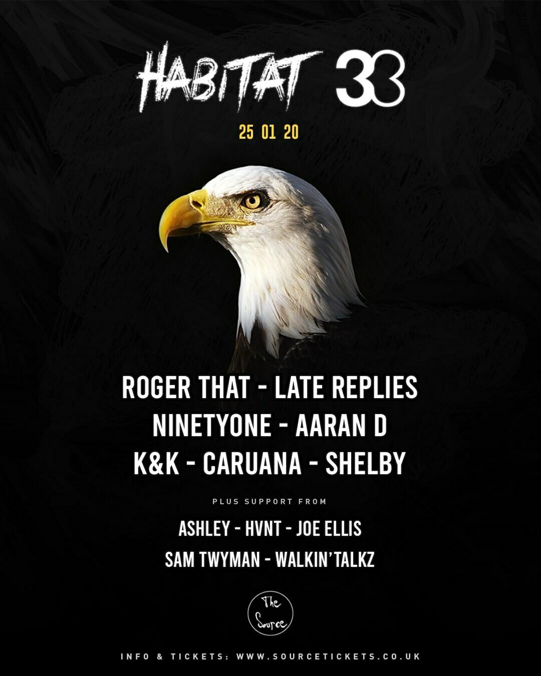 Saturday 25th January 2020 - Habitat x 33
