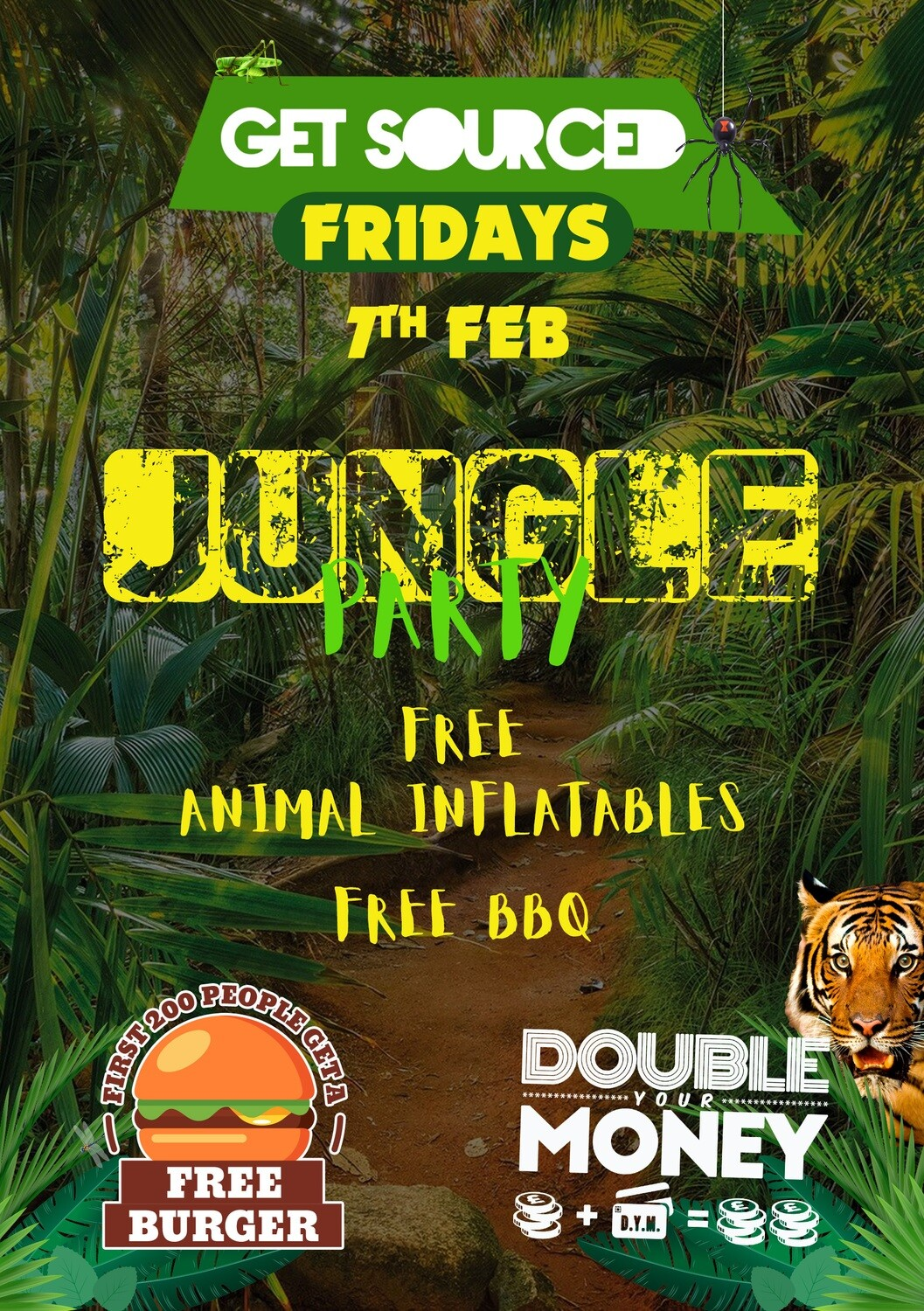 Friday 7th February 2020 - Get Sourced Fridays 'Jungle Party' ***TABLES £40***