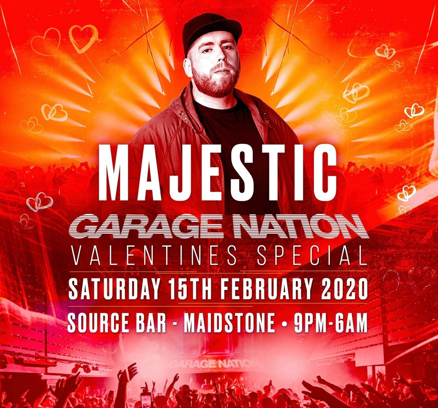 Saturday 15th February 2020 - Garage Nation Valentines Special