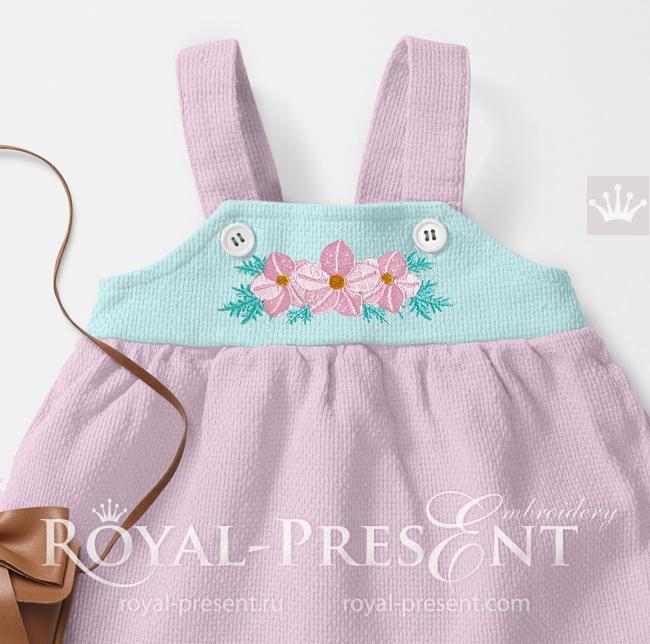 Floral Mini Border Machine Embroidery Design - 3 sizes RPE-1680-3