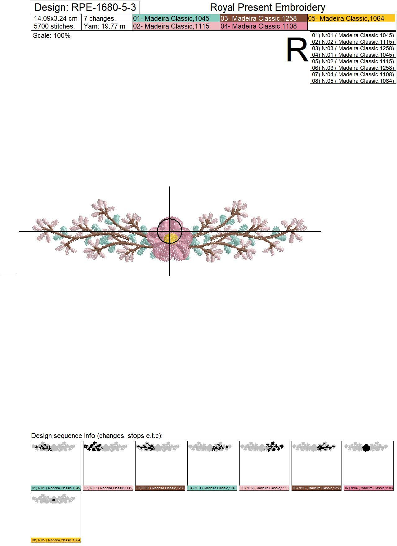Mini Border Free Machine Embroidery Design - 3 sizes