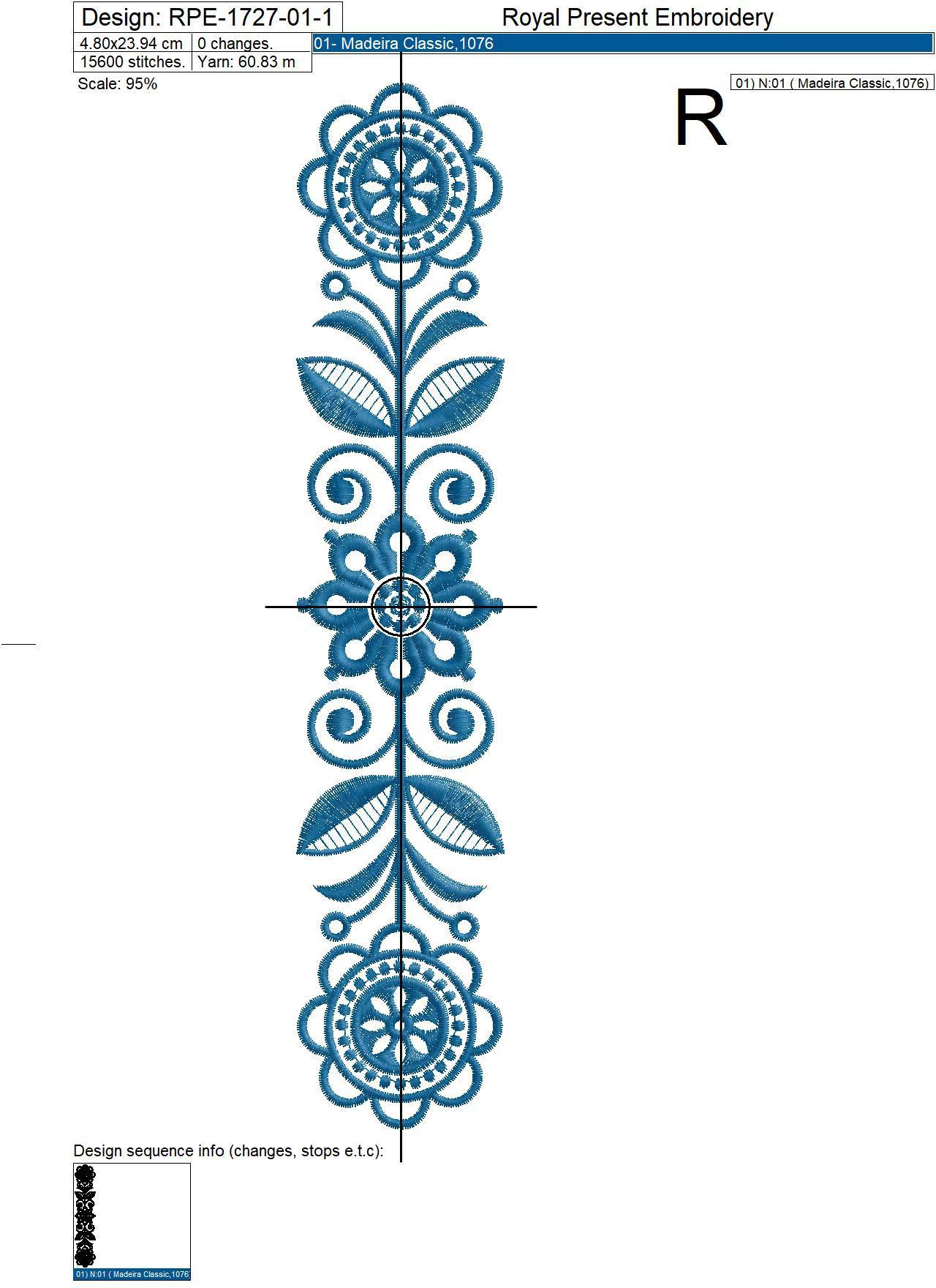 Scandinavian borders Machine Embroidery Designs