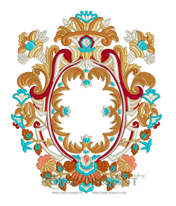 Machine Embroidery Design Luxury classic - 2 sizes