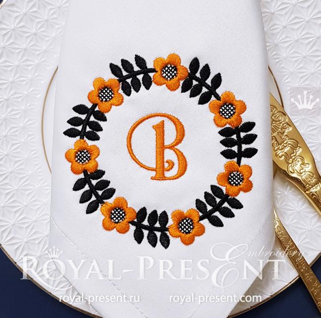 Free Scandinavian Frame Machine Embroidery Design - 2 sizes RPE-1752