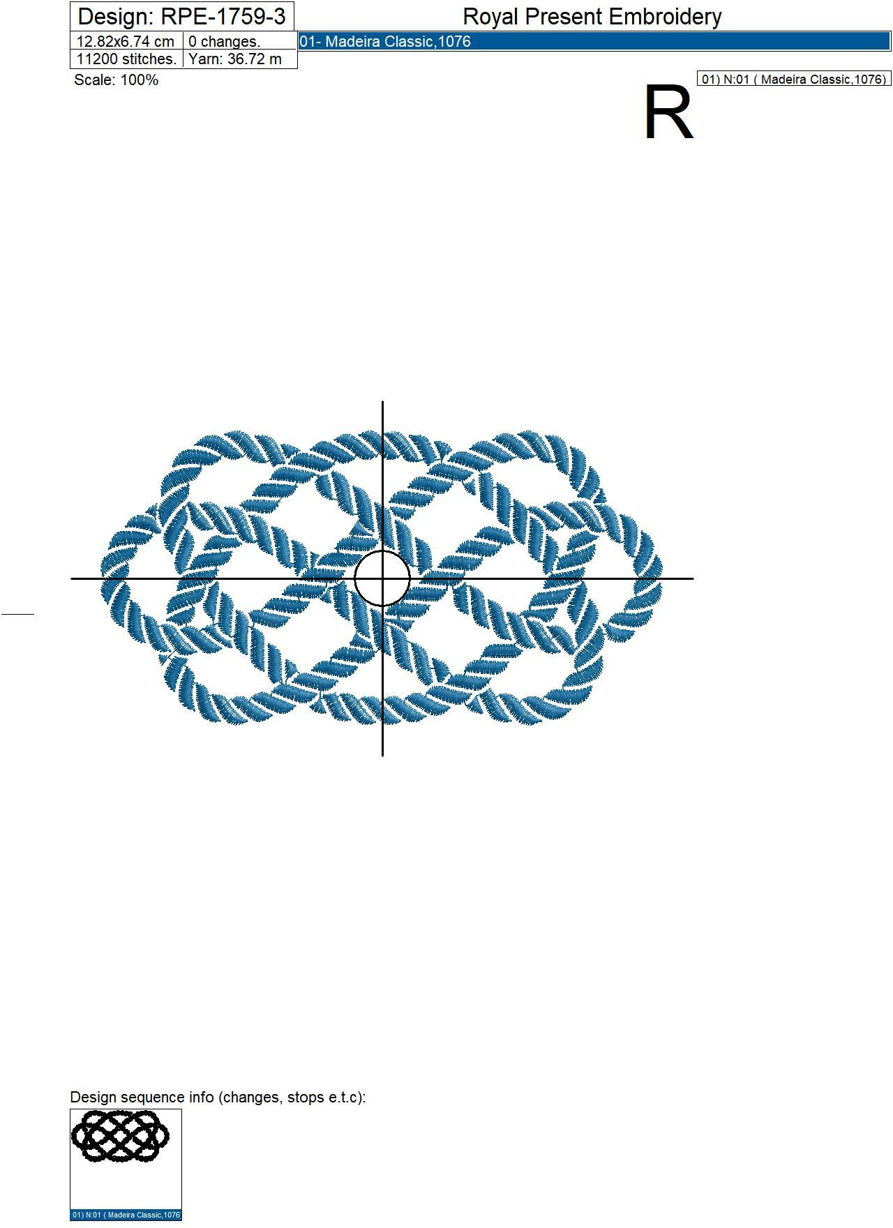 Nautical Rope Knot Machine Embroidery Design - 8 sizes